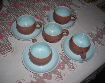 Denby Langley Lucerne cups and saucers
