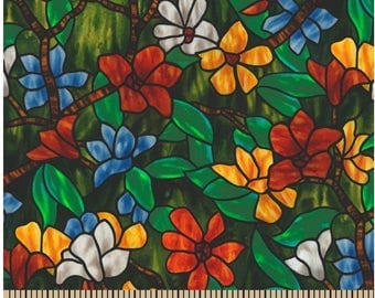 For God so Loved the World,Stain Glass Floral, Springs
