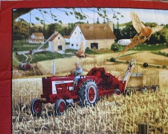 """Farmall,panel corn picking, 36x45"""""""