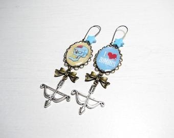 SALE 50% earrings Freakshow - I love Zombies