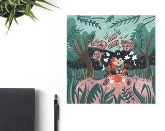 Mr. Toad's Wild Ride Disney Art Print, Disney Birthday Gift, Retro Disney Parks, Bestie Home Decor Gift Idea, Disney Lover Valentine Gift