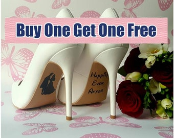 Wedding Shoe Decal Sticker / Sleeping Beauty / Happily Ever After / Love / Marriage