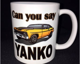 69 Nova Mug, Yanko, Big Block, Super Car, Hot Rod, Custom Car Coffee Mug, Street Rod, Roadster