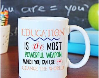 Teacher Coffee Mug, Change the World