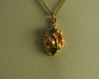 A Nice Nugget Necklace with Genuine Gemstones