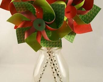SPINNING Paper Pinwheels - Watermelon Theme