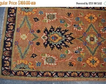 BIG SALE 3'6 x 1'8 FT Handmade Persian Oushak Oriental small area rug, Discounted Price