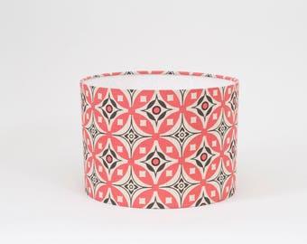Elmas Fresh Pink and Slate Lampshade - 30cm Diameter - Pink and Grey Lampshade - Elmas Lamp Shade - Geometric Lampshade