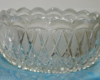 beautiful exceptionally rare taylor brothers american brilliant period cut glass bowl