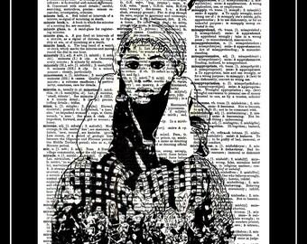 436 Dictionary art print Bedouin political art