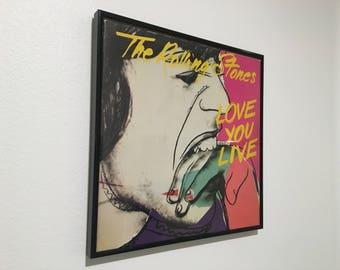 """Rolling Stones """"Love You Live"""" Framed LP"""