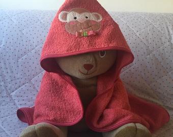 Towel/robe with hood hanging