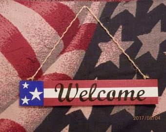 American Flag Welcome Sign, Pallet Sign