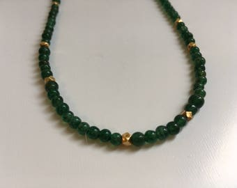 Green Adventurine Necklace (Bead Collection)