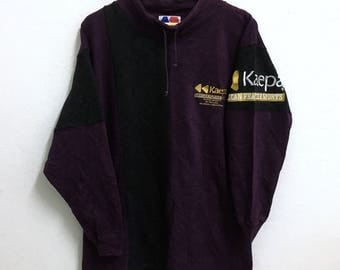 RARE!!! KAEPA Big Logo Embroidery SpellOut Dark Purple Colour Sweatshirts Hip Hop Swag L Size