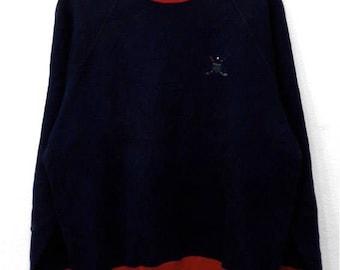 RARE!!! Polo Ralph Lauren Golf Small Logo Crew Neck Dark Blue Colour Sweatshirts Hip Hop Swag M Size