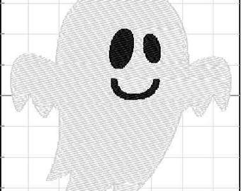 Fill Embroidery Design, Halloween Ghost 1, File, Digital, Download, Machine