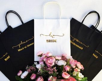 Personalized Gift Bag, Bridesmaid Gift, Bridal Shower Gift, Custom Gift Bag, Bachelorette Gift Bag, Wedding Gift Bag, Bridal Party Gift