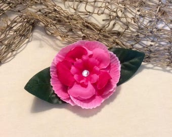 Moana silk flower hair clip