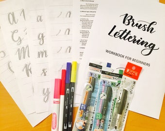 Brush Lettering Calligraphy Starter Kit