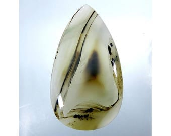 Montana Agate Loose Gemstone Cabochon Pear Shape Excellent Montana Agate For Jewelry Making 92Cts 59X32X6mm