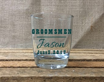 Groomsmen Gifts/Wedding Party Rocks Glasses/Personalized Etched Glassware/Gift for Groom, Groomsmen, Best Man, Father of Groom/Groom