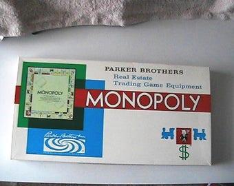 vintage 1961 Monopoly game