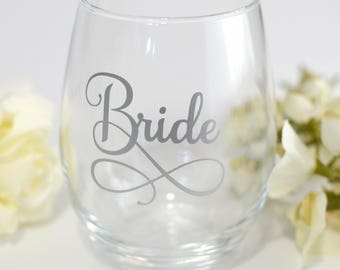 Custom Name Decal Vinyl Name Decal Bridesmaid Proposal - Custom vinyl decals for wine glasses