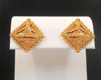 "22K Solid Gold Earrings Jewelry Ornament Stud Screw Back Genuine & Hallmarked 22KT ""GOLDSHINE"""