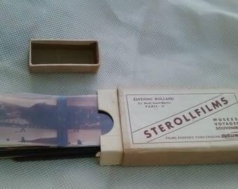Rare Stereoscope Sterollfilms PYRENEES 6 X 13 views - 1940