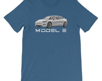 Tesla Motors Model 3 Electric Car Unisex T-Shirt S M L XL 2XL 3XL (Many Colors)