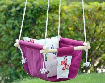Personalized fabric swing for Baby and Toddler girl