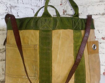 tote bag canvas US military and essential and timeless leather