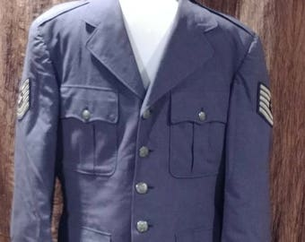 Air Force dress jacket, Air Force uniform jacket, 40L, free shipping
