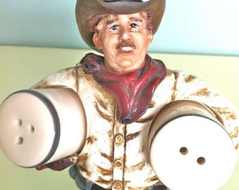 Cowboy Salt and Pepper Shakers/Country Salt and Pepper Shakers/Western Salt and Pepper Shakers/Cowboy Decor/Western Decor/Cowboy Figurine