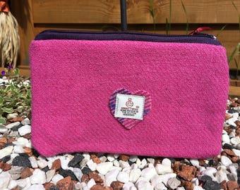 Pink Harris Tweed Purse