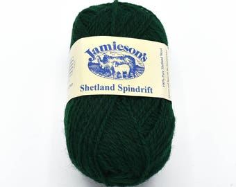 Yarn for Sweaters - Knitting Wool - Green Yarn - Yarn Destash - Shetland Wool - Yarn for Sale - Wool Yarn - Shetland Yarn - Knitting Yarn