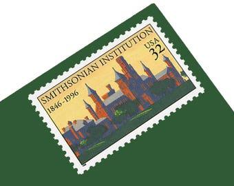 Pack of 20 Unused Smithsonian Institution Stamps - 32c - 1996 - Unused - Quantity of 20