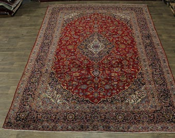 Beautiful Handmade S Antique Red Kashan Persian Area Rug Oriental Carpet 10X13