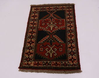 Authentic Small Entrance Tribal Ghoochan Persian Area Rug Oriental Carpet 2X3