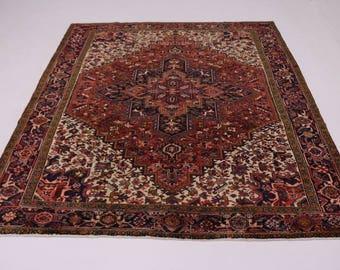 Fascinating S Antique Geometric Heriz Persian Rug Oriental Area Carpet 10X11