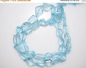 50% OFF Sky Blue Topaz Faceted Nugget Briolette - Sky Blue Topaz Faceted Tumble Beads , 8x7.5 - 16x11.5 mm,  BL785