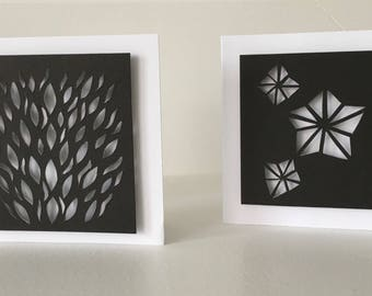 Black & White Abstract Cards.