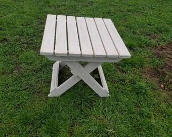Folding wood table / shabby chic /  coastal table / outdoor decor /