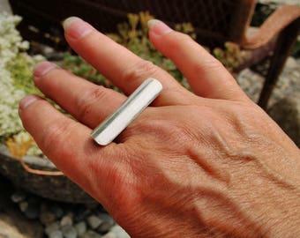 Finesilver bar ring size 8 1/2