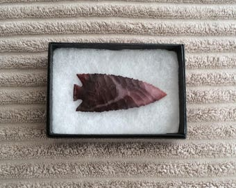 Beautiful Flint Knapped Australian Mookiate Arrowhead