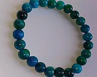 Chrysocolla Turquoise Stretch Bracelet