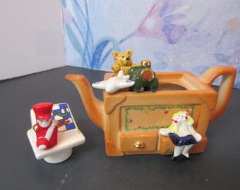 Vintage Small Paul Cardew Design Toy Box Teapot Collector, Room Décor  2568