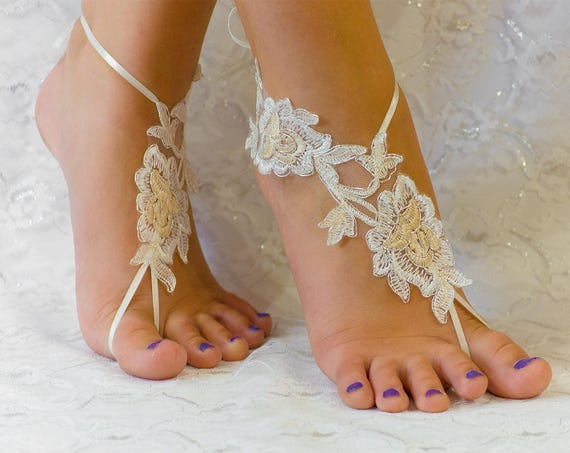 Ivory Lace wedding shoes, beach wedding shoes, wedding lace shoes, bridesmade gift, beach shoes 10