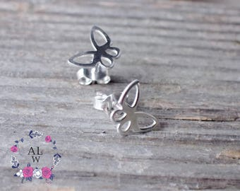 925 Sterling Silver Butterfly Earrings Stud Earrings Butterfly